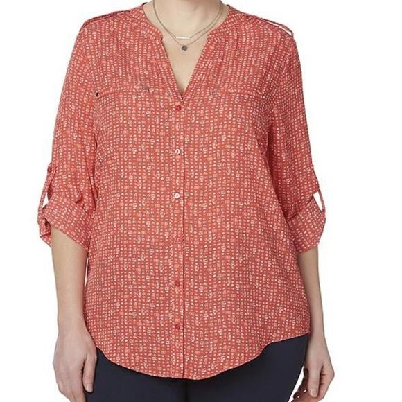 215d9299285b4 Simply Emma Women s Plus Blouse Size 3X (B2)